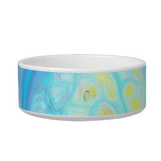 Streams of Joy – Cosmic Aqua & Lemon Cat Water Bowls