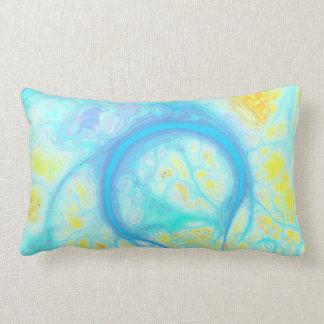 Streams of Joy – Cosmic Aqua & Lemon Pillows