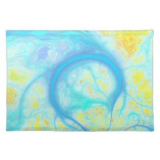 Streams of Joy – Cosmic Aqua & Lemon Place Mat