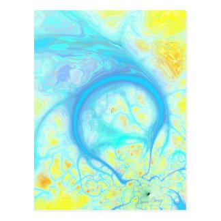 Streams of Joy – Cosmic Aqua & Lemon Post Cards