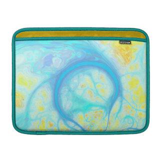 Streams of Joy – Cosmic Aqua & Lemon Sleeve For MacBook Air