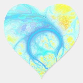 Streams of Joy – Cosmic Aqua & Lemon Stickers