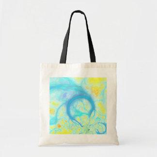 Streams of Joy – Cosmic Aqua & Lemon Tote Bags