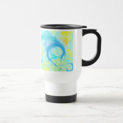 Streams of Joy – Cosmic Aqua & Lemon Travel Mug