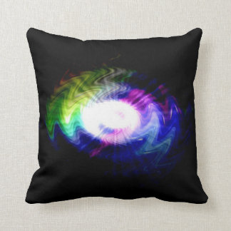 Streams of light abstract Cool waves Throw Pillows