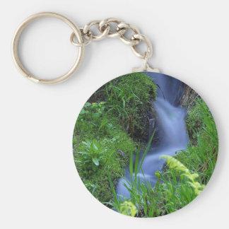 Streams of water! basic round button keychain