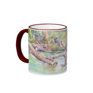 """Streamside Wildlife"" Ringer Coffee Mug"