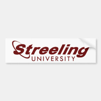 STREELING UNIVERSITY bumper sticker