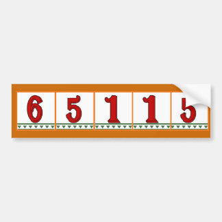 Street Address Red Italian Tiles Bumper Sticker