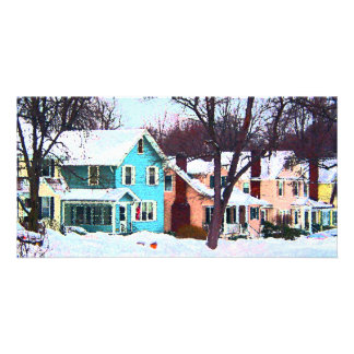 Street After Snow Personalized Photo Card