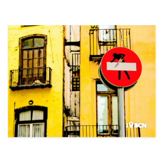 Street art AT the Born to quater, Barcelona, Spain Postcard