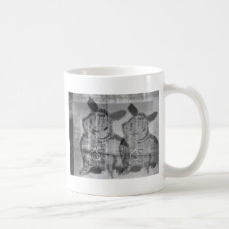 street art bunny coffee mug
