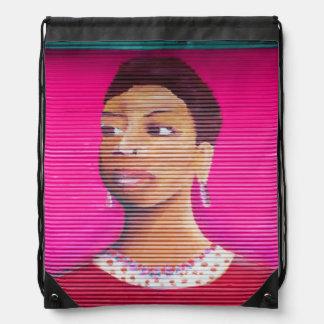street art cinch bag