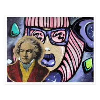 street art composer postcard