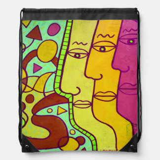 street art drawstring backpacks