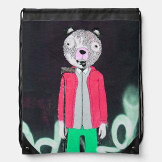 street art drawstring bag