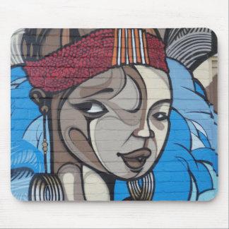 Street Art Girl Mouse Pad