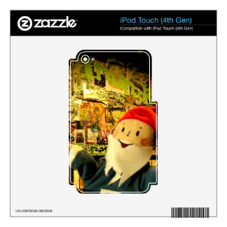 Street Art Gnome Decal For iPod Touch 4G
