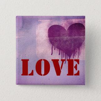 Street Art Heart Love Button