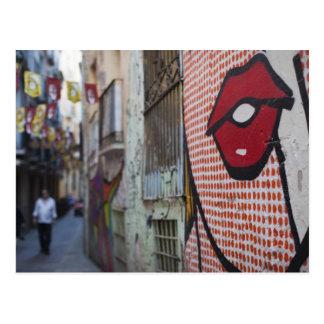 Street art on Calle de la Libertad street Postcard