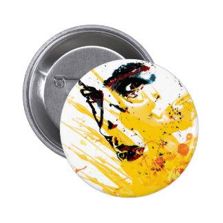 street art painting yellow pins