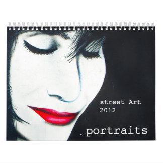 street art portraits calendar