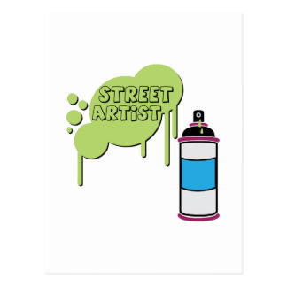 Street Artist Post Card