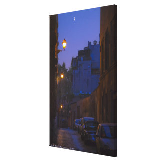 Street at night in Rome, Italy Canvas Print