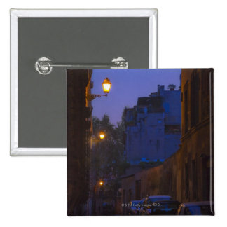 Street at night in Rome, Italy Pinback Button