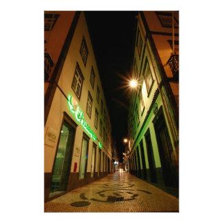 Street at night photo print