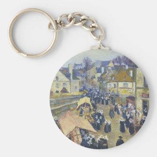 Street at Pont Aven by Gustave Loiseau Keychains