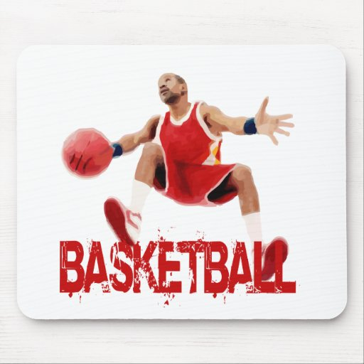 Street Basketball Dribble Mouse Pad