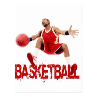 Street Basketball Dribble Postcard