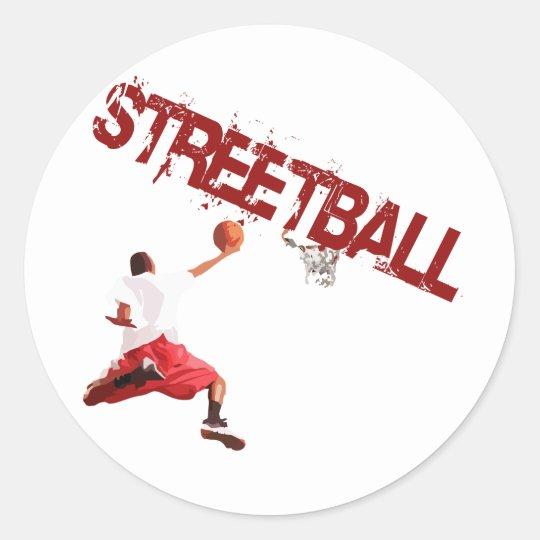Street Basketball Dunk Classic Round Sticker