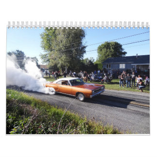 Street burnouts,muscle cars calendar