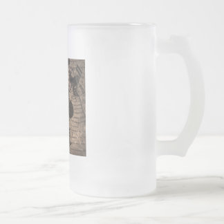 street cafe abstract frosted glass beer mug