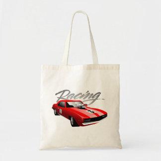 Street car racing tote bag