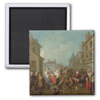 Street Carnival in Paris, 1757 Magnet
