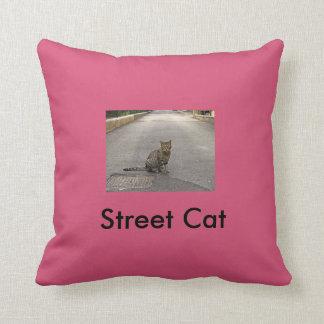 Street cat. Street Cat Throw Pillow