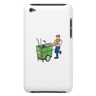 Street Cleaner Pushing Trolley Cartoon Isolated Case-Mate iPod Touch Case