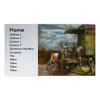 Street Cleaner - The hygiene machine 1910 Business Card