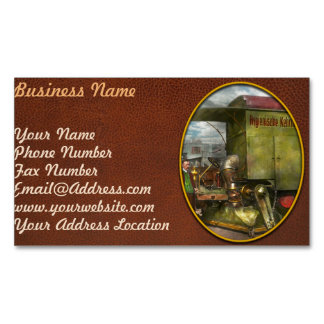 Street Cleaner - The hygiene machine 1910 Business Card Magnet