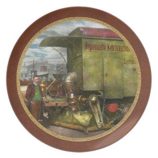 Street Cleaner - The hygiene machine 1910 Dinner Plate