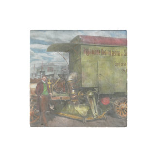Street Cleaner - The hygiene machine 1910 Stone Magnet