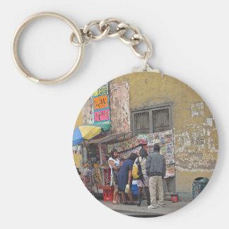 Street Corner in Peru Keychain