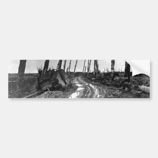 Street Corner in Poelcapelle Belgium 12/19/1918 Car Bumper Sticker