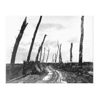 Street Corner in Poelcapelle Belgium 12/19/1918 Canvas Print