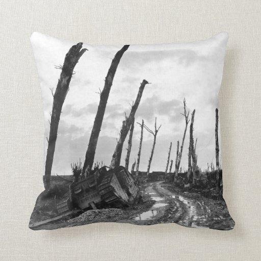 Street Corner in Poelcapelle Belgium 12/19/1918 Throw Pillow
