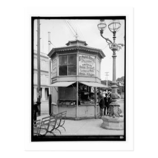 Street Corner Merchant, Havana, Cuba Vintage Postcard
