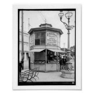 Street Corner Merchant, Havana, Cuba Vintage Poster